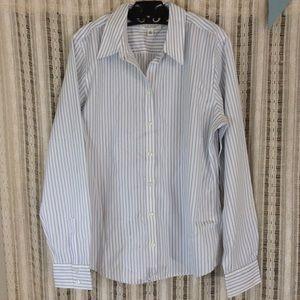 Banana Republic Blue White Button Up collar Shirt